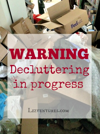 Decluttering in progress