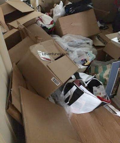 clutter in hallway