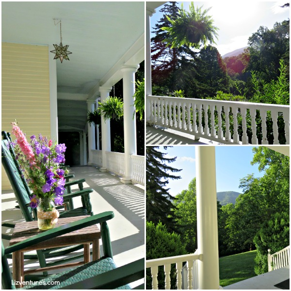 front porch - Balsam Mountain Inn